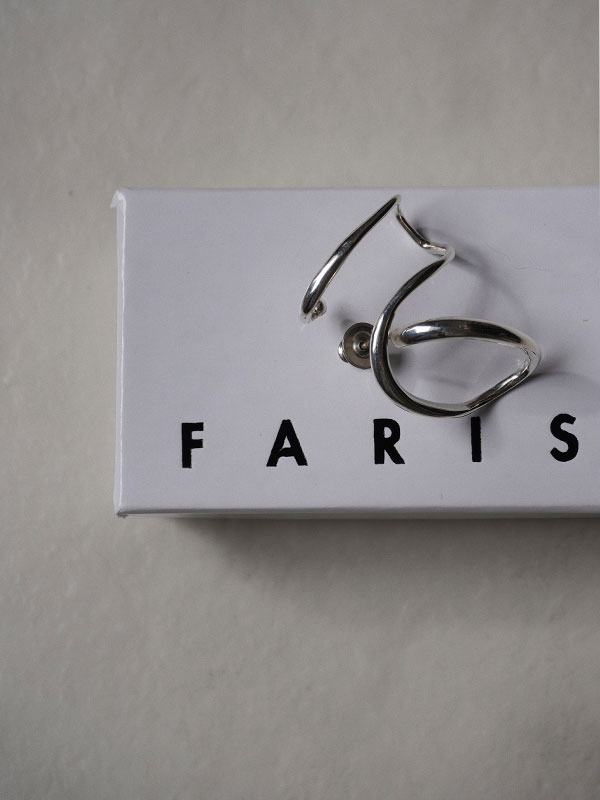 FARIS CURSIVE EarpieceSterlingSilver