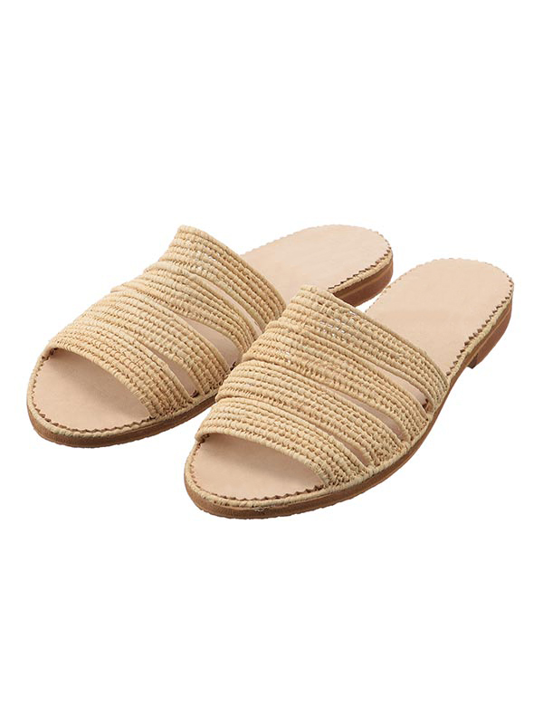 Capsule raffia shoe Four Stripes